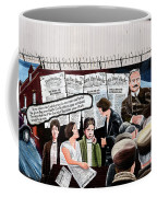 Belfast Mural - Headlines - Ireland Coffee Mug