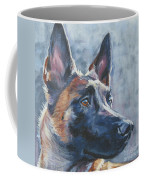 Belgian Malinois In Winter Coffee Mug