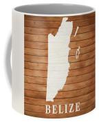 Belize Rustic Map On Wood Coffee Mug