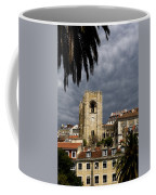 Bell Tower Against Roiling Sky Coffee Mug