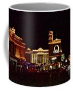 Bellagio And Caesar's Palace In Las Vegas-nevada Coffee Mug