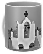 Bells In Oia Bw Coffee Mug