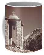 Belltower And Fortress Of Palamidi, Nafplio, Greece. Sepia. Coffee Mug