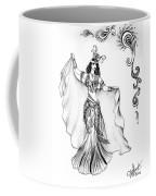 Belly Dancer With Veil. Friend Of Ameynra Coffee Mug
