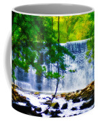 Below The Waterfall Coffee Mug