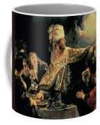 Belshazzars Feast Coffee Mug by Rembrandt