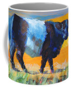 Belted Galloway Cow Side View Coffee Mug