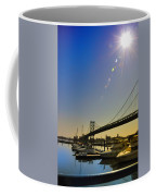 Ben Franklin Bridge From The Marina Coffee Mug