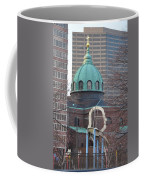 Ben Franklin Sculpture And St Peters Basilica Philadelphia Coffee Mug