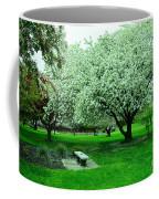 Bench Among.the Blossoms Coffee Mug