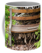 Bench And Wood Pile Coffee Mug
