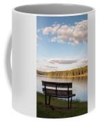 Bench By The Lake Coffee Mug