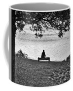 Bench Fishing Coffee Mug