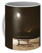 Bench For The Snowflakes Coffee Mug