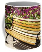 Bench In The Tulips Coffee Mug