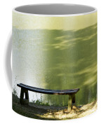 Bench On A Lake Coffee Mug