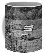 Bench Park Black White  Coffee Mug