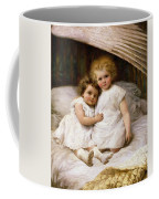 Beneath The Wing Of An Angel Coffee Mug by William Strutt