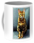 Bengal Cat Digital Oil Pastel Coffee Mug