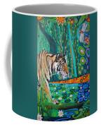 Bengal Tiger And Dragonfly Coffee Mug