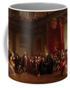 Benjamin Franklin Appearing Before The Privy Council  Coffee Mug by Christian Schussele