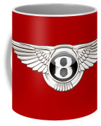 Bentley 3 D Badge On Red Coffee Mug