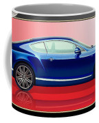 Bentley Continental Gt With 3d Badge Coffee Mug