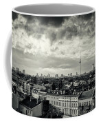 Berlin Skyline And Roofscape -black And White Coffee Mug