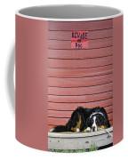 Bernese Mountain Dog Alertly Guarding Home. Coffee Mug
