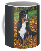 Bernese Mountain Dog Autumn Leaves Coffee Mug