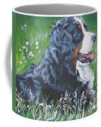 Bernese Mountain Dog In Wildflowers Coffee Mug