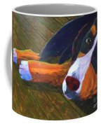 Bernese Mtn Dog On The Deck Coffee Mug