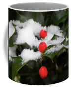 Berries In Snow Coffee Mug