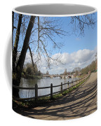 Beside The Thames At Hampton Court London Uk Coffee Mug