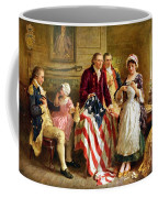 Betsy Ross And General George Washington Coffee Mug by War Is Hell Store