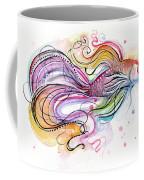 Betta Fish Watercolor Coffee Mug by Olga Shvartsur