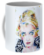 Bette Davis - Watercolor Portrait Coffee Mug