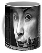 Between Closed Doors Bw Coffee Mug