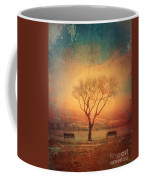 Between Two Benches Coffee Mug