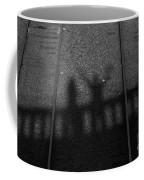 Beware Of The Shadows Black And White Coffee Mug