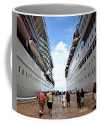 Beween Two Ships Coffee Mug