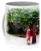 Bff Best Friends Pregnant Women Portrait Village Indian Rajasthani 1 Coffee Mug
