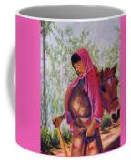 Bhutan Series - Woman With The Horse Coffee Mug