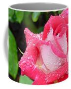 Bi-colored Rose In Rain Coffee Mug