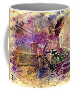 Bicycle Abandoned In India Rajasthan Blue City 1a Coffee Mug