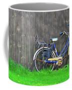 Bicycle And Gray Fence Coffee Mug
