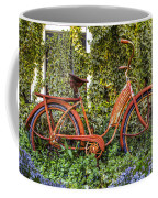Bicycle In The Garden Coffee Mug