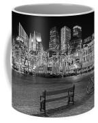 Bicycle On The Plein At Night - The Hague  Coffee Mug