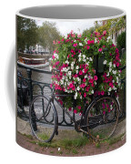Bicycle Parked At The Bridge In Amsterdam Coffee Mug