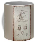 Bicycle Patent Drawing 4a Coffee Mug